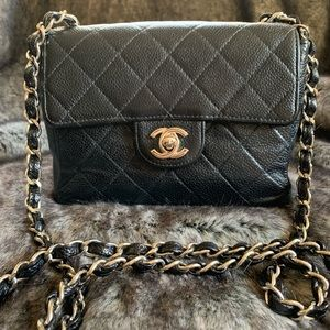 Authentic CHANEL Vintage Classic Mini Flap Bag